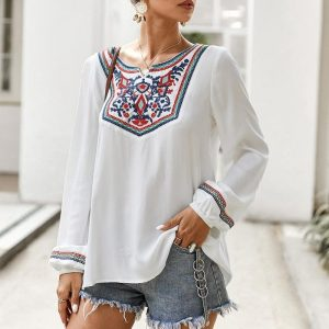 Bohemian Embroidered Blouse