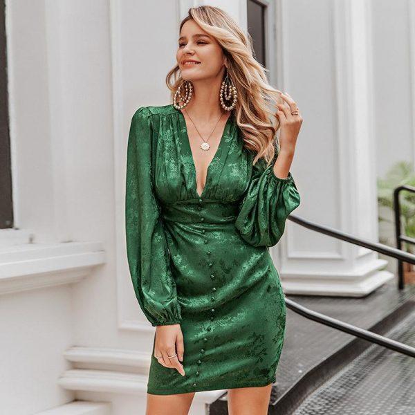 Elegant Hippie Long Sleeve Short Dress
