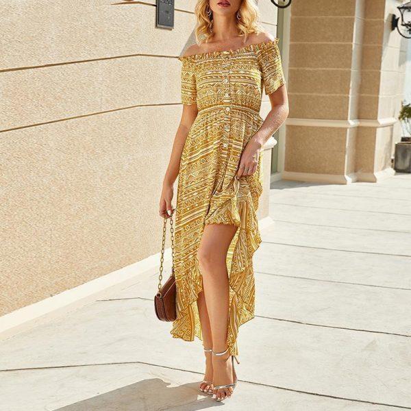 Bohemian chic dress for women