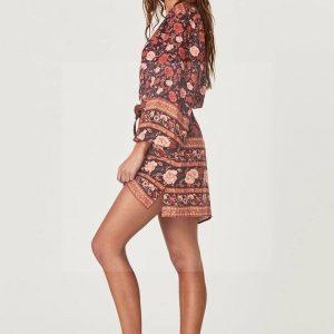 Bohemian chic fall dress