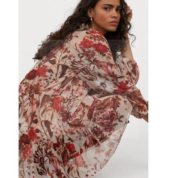 Bohemian chic linen dress