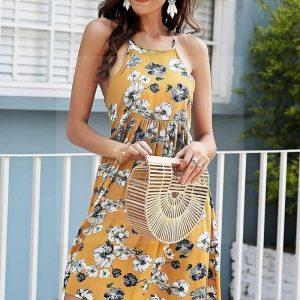 Bohemian chic floral dress