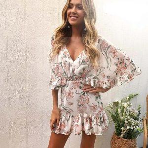 Bohemian chic flowing dress