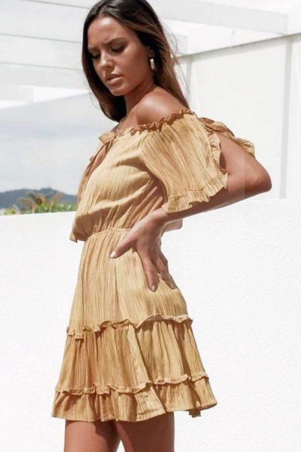Golden Bohemian Dress