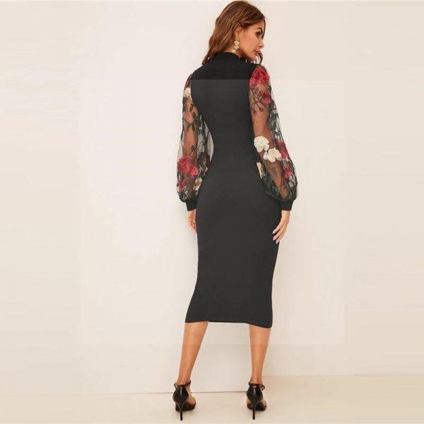 Plain bohemian dress
