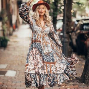 Ethnic hippie chic dress